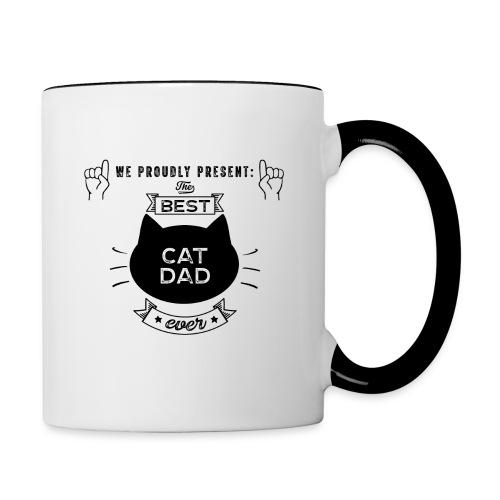 Best Cat Dad Ever Geschenkidee - Tasse zweifarbig