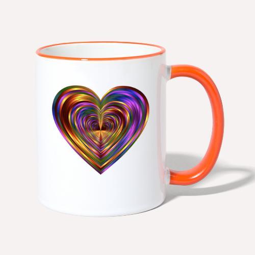 Colorful Love Heart Print T-shirts And Apparel - Contrasting Mug