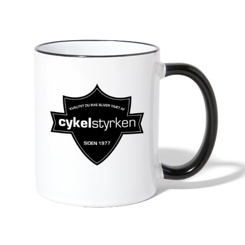 Cykelstyrken logo vaabenskjold50 - Tofarvet krus