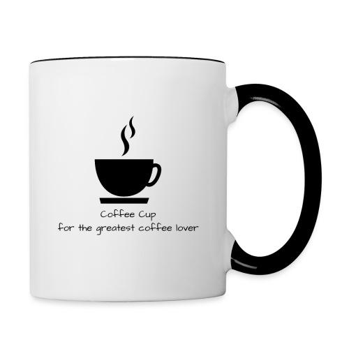 Kaffeeliebhaber Tasse - Tasse zweifarbig