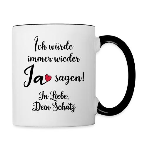 Liebe Ehe Mann Frau Geschenk Verheiratet Spruch - Tasse zweifarbig