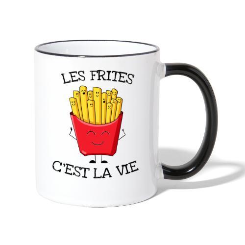 Les frites c'est la vie - Mug contrasté