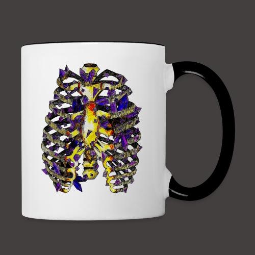 La Cage Thoracique de Cristal Creepy - Mug contrasté