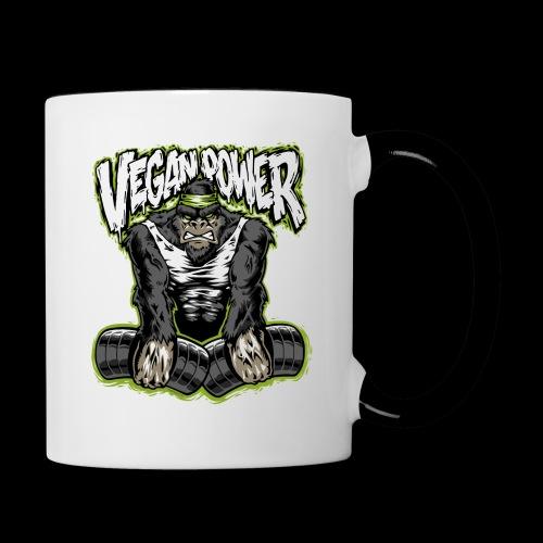 veganpower Muskel Gorilla - Tasse zweifarbig