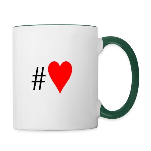 Hashtag Heart - Contrasting Mug