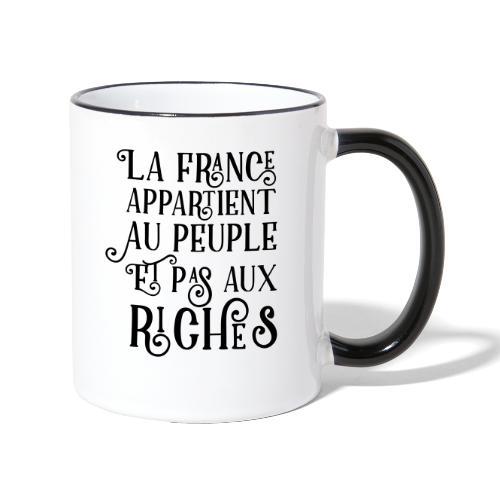 La france appartient au peuple et pas aux riches - Mug contrasté