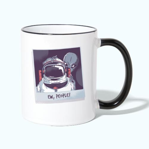 Aliens and astronaut - Contrasting Mug