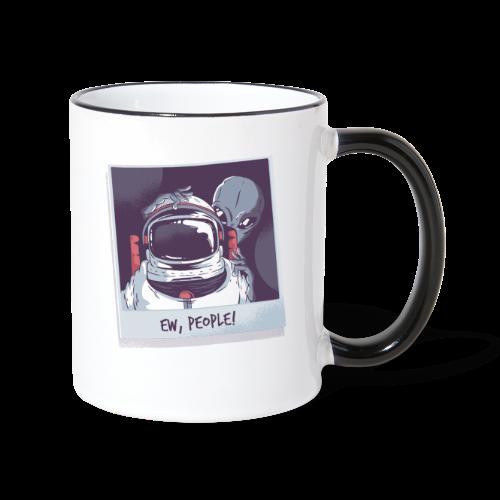 Aliens and astronaut - Contrasting Mug