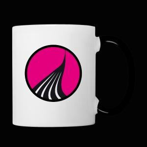 Logo cercle magenta - Mug contrasté