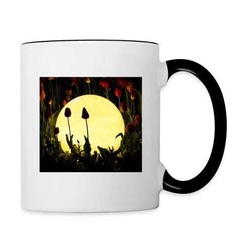 Nachttulpen - Tasse zweifarbig