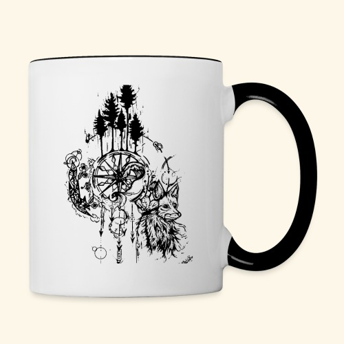 renard nature - Mug contrasté