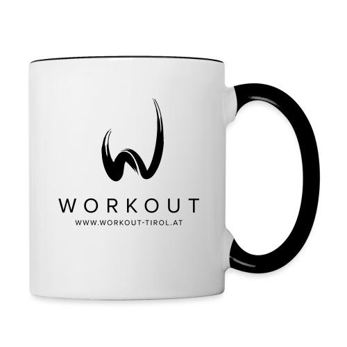 Workout mit Url - Tasse zweifarbig