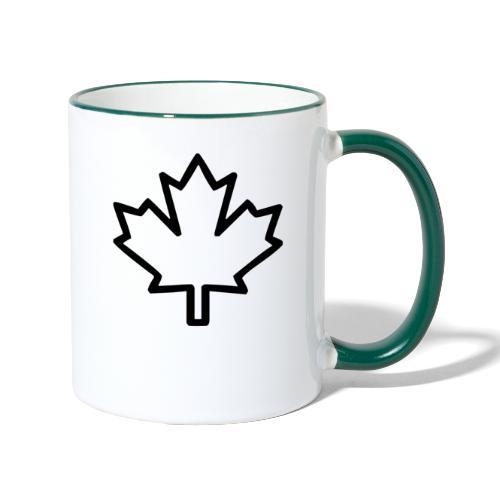 Kanada Symbol Ahorn Blatt Wappen Heimat - Tasse zweifarbig