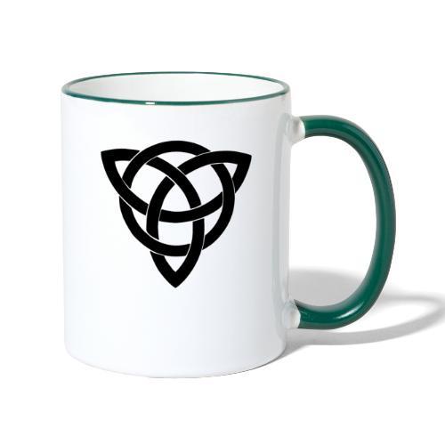 Keltisches Symbol Kreuz Kelten Wikinger Nordmänner - Tasse zweifarbig