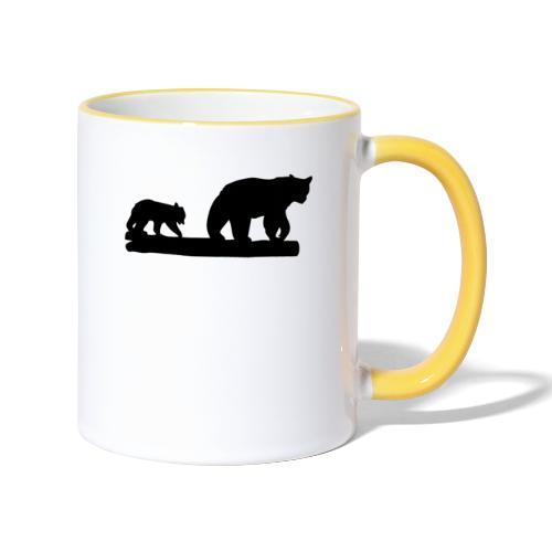 Bären Bär Grizzly Wildnis Natur Raubtier - Tasse zweifarbig