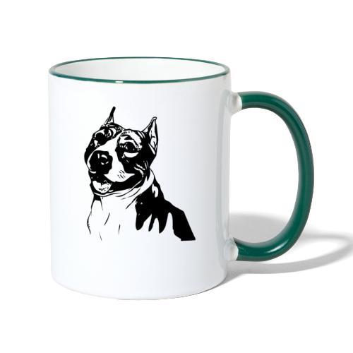 Pitbull Hund Hunde Rasse Kampfhund Hundehalter - Tasse zweifarbig