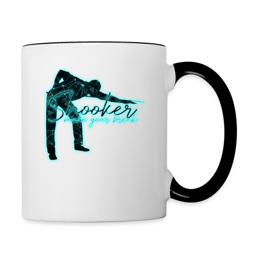 Snooker Neon make your break - Tasse zweifarbig