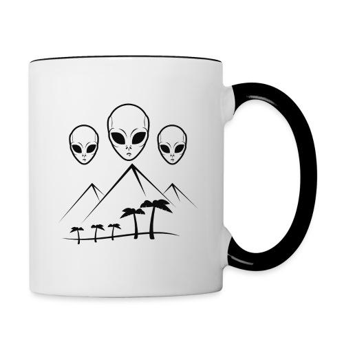 Pyramides & Extraterrestres - Mug contrasté
