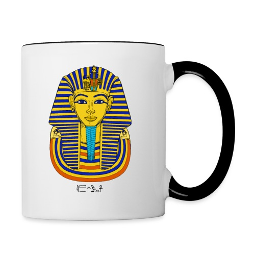 Pharao Tutanchamun - Tasse zweifarbig