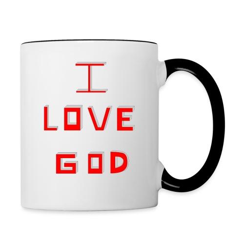 I LOVE GOD - Taza en dos colores