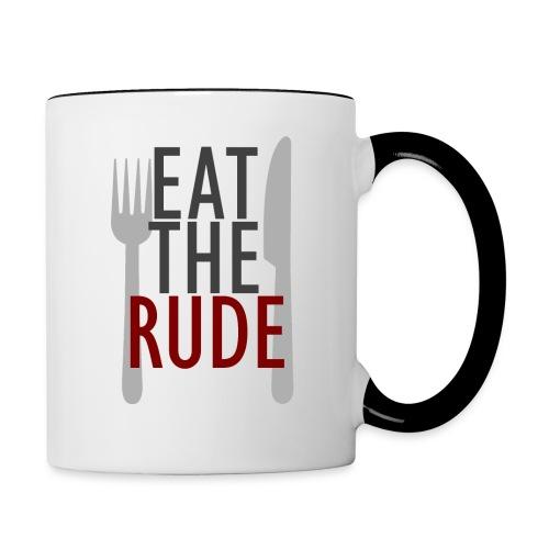 eat the rude - Contrasting Mug