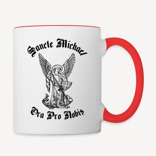 SANCTE MICHAEL ORA PRO NOBIS - Contrasting Mug