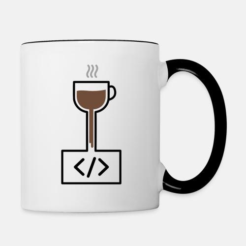 Coffee to Code - Programming T-Shirt - Contrasting Mug