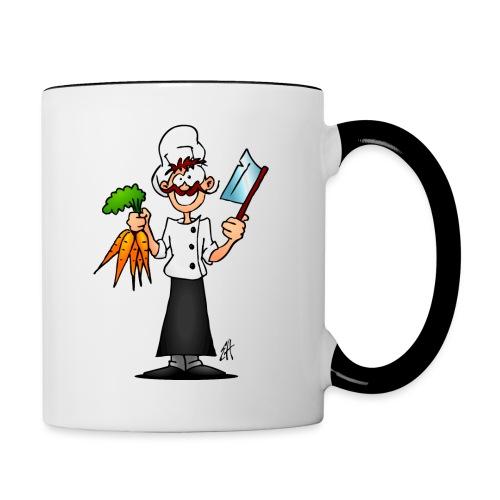 The vegetarian chef - Contrasting Mug