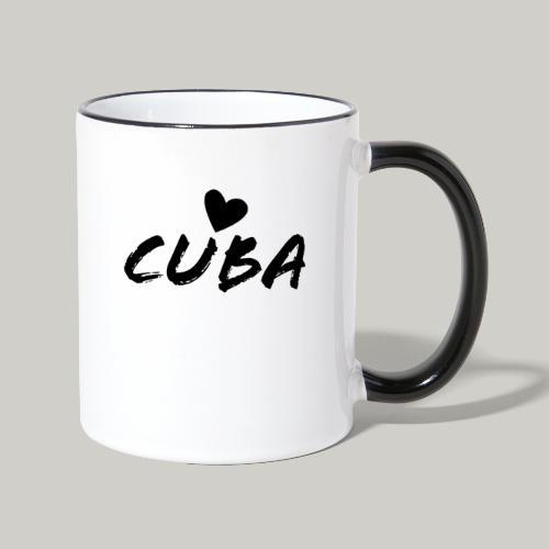 Cuba Herz - Tasse zweifarbig