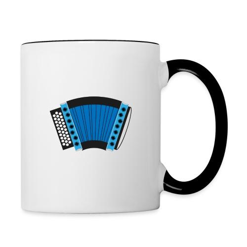 Schwyzerörgeli schwarz/blau - Tasse zweifarbig