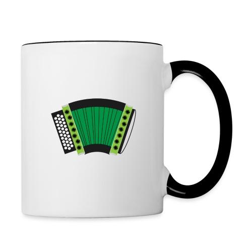 Schwyzerörgeli grün - Tasse zweifarbig