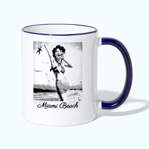 Vintage Travel Miami - Contrasting Mug