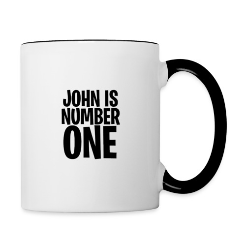 John Is Number One - Contrasting Mug