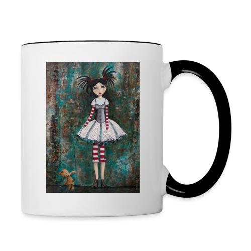 prinsess goth - Mug contrasté
