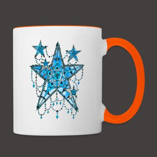 ETOILE DENTELLE BLEUE - Mug contrasté