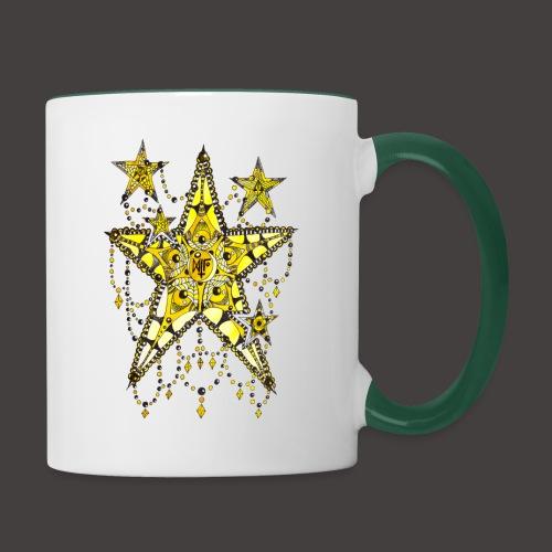 ETOILE DENTELLE JAUNE - Mug contrasté