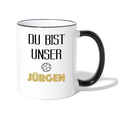 Jürgen - Tasse zweifarbig