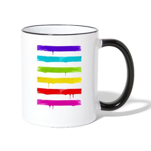 LGBT STRIPES - Tasse zweifarbig