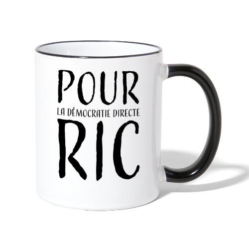 Pour une démocratie directe RIC, gilets jaunes - Mug contrasté