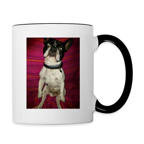 Bulldog francés Sit - Taza en dos colores