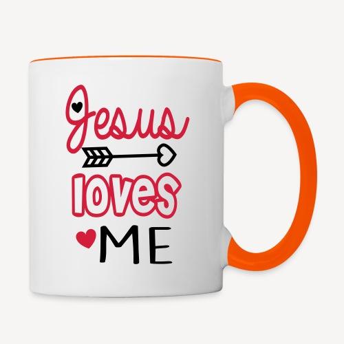 JESUS LOVES ME - Contrasting Mug