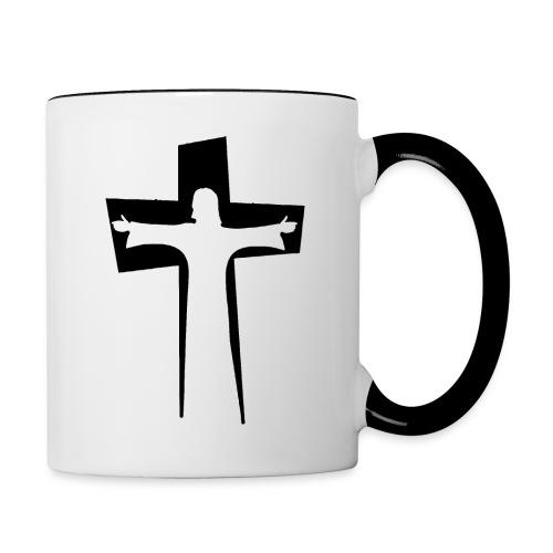 Abstrakt Jesus på korset - Tvåfärgad mugg