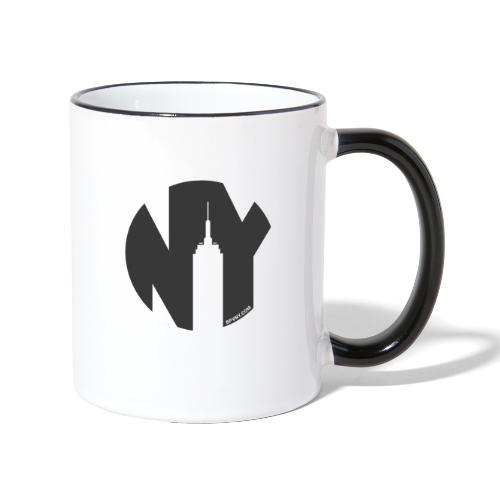 Logo French Yorker noir - Mug contrasté