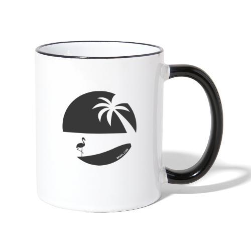 Logo French Floridian noir - Mug contrasté