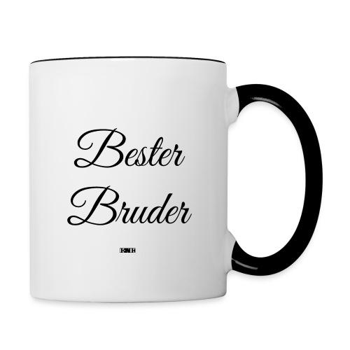 - Bester Bruder - Tasse - Tasse zweifarbig