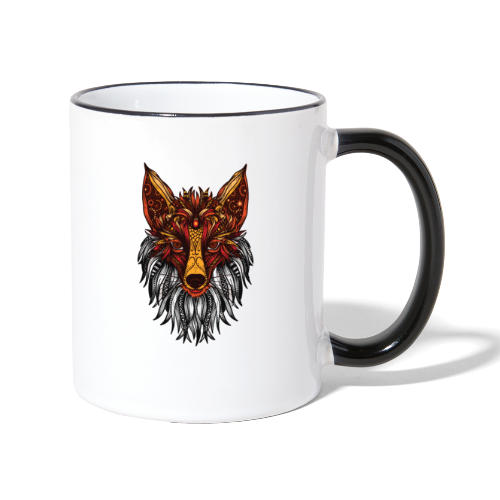 Mandala Fox - Contrasting Mug