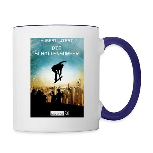 Schattensurfer Tasse jpg - Tasse zweifarbig