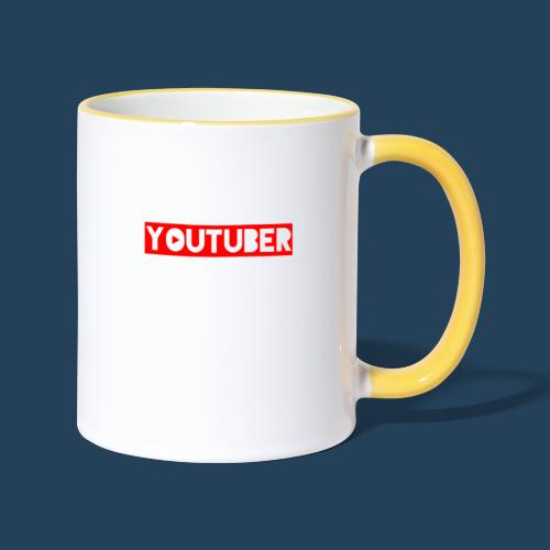 I am Youtuber - Tasse zweifarbig