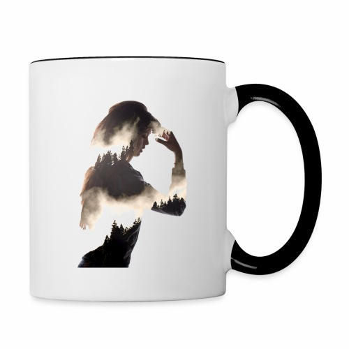 Lady Double Exposure - Contrasting Mug
