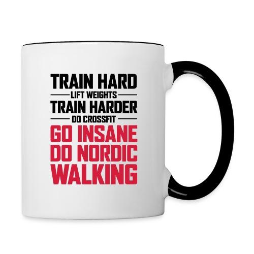Nordic Walking - Go Insane - Kaksivärinen muki